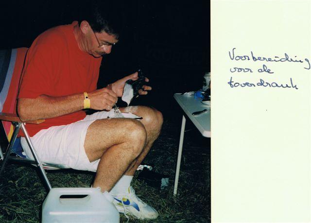 Johan had als wielrenner al wel eens met toverdrankjes gewerkt.