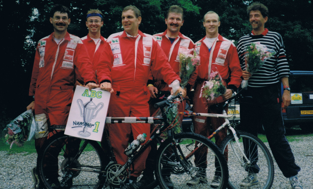 ABC-team. vlnr: Johan Pegge, Michael Litjens, Herman Hoogenkamp, Leo Slütter en Nico de Vos